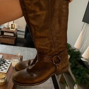 Frye leather brown knee high boots